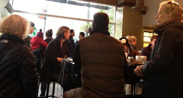 Waiting at Starbucks