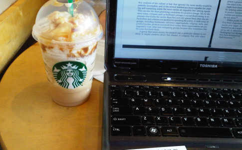 Studying at Starbucks