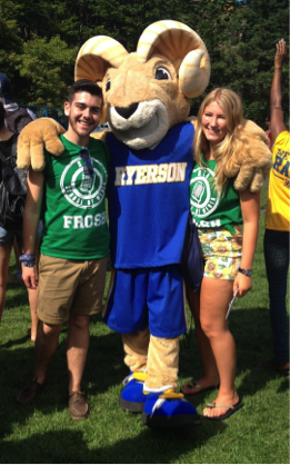 Reppin' that RTA Swag with Sydney and the Ryerson Ram Aggie!