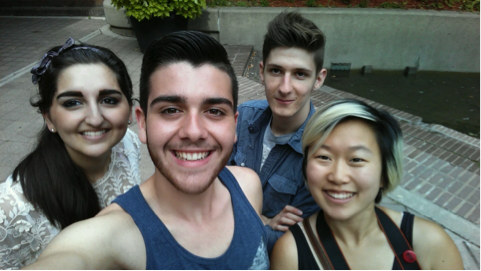 Taken with my new LGG3 phone curtsey of LG Canada – with Sunita, Nolan and Enna!