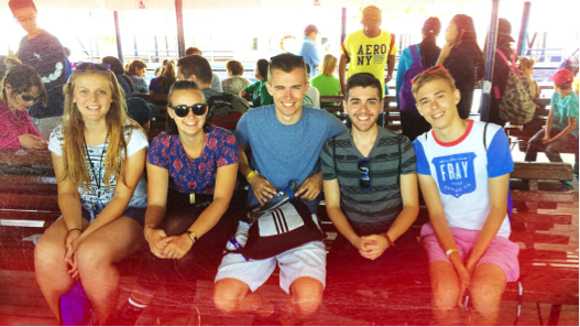 On the boat-ride to Toronto Island – with Braelyn, Sydney, Shay and Will!
