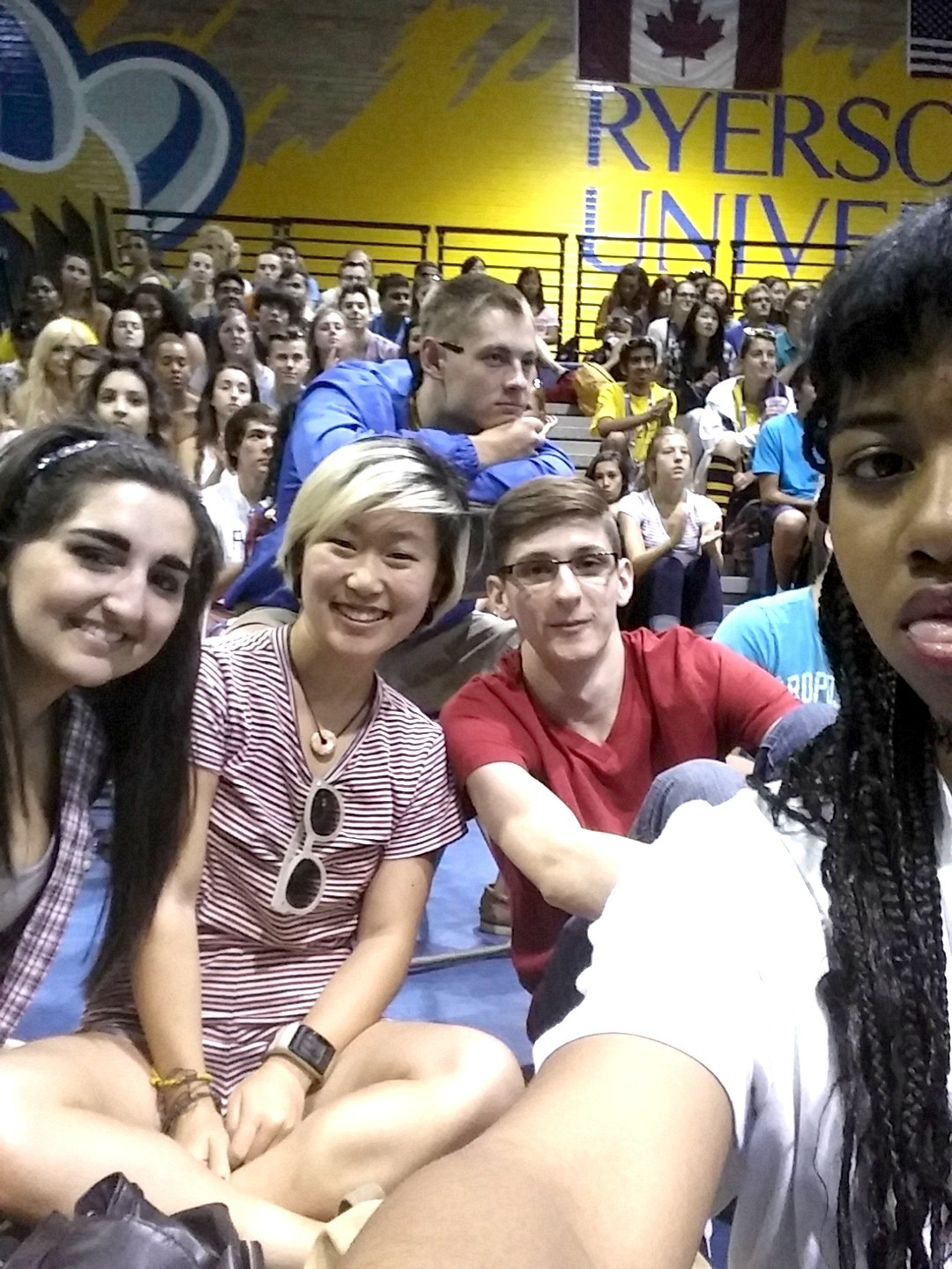 #RoadToRyerson bloggers, Sunita, Nolan, Raven and I at the #RUrise2014 Illusionist Show!