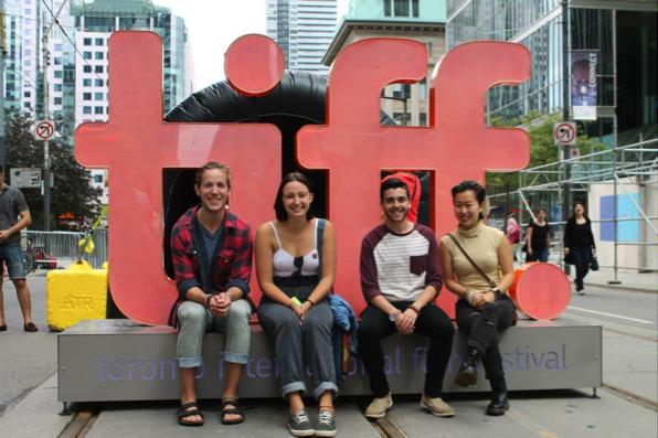 At T.I.F.F with Mason, Sydney, and Enna!