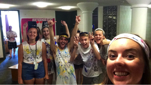 All painted up with someplace to go – with Connor, Sydney, Jill, Keely, Will, Braelyn, & Kayla!