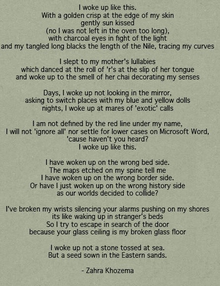Poem by Zahra Khozema