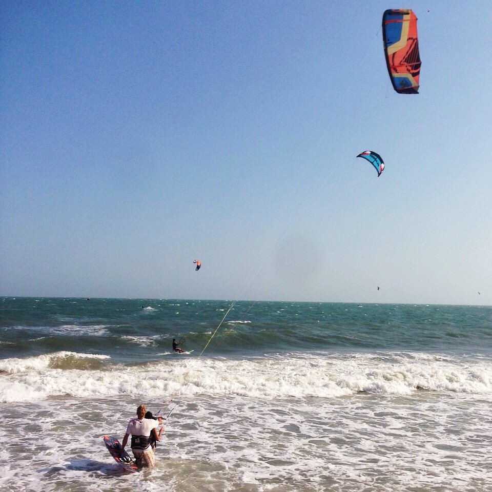 Photo of Jasmin kitesurfing