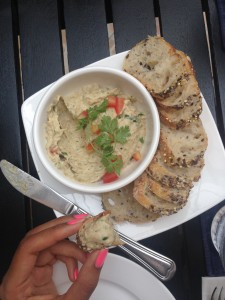 Eggplant Dip, one of the many yummy dishes served up at the Friends restaurant.