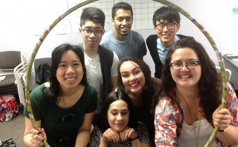 O-Team Group Photo inside hoola hoop