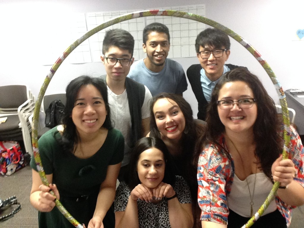 O-Team Group Photo inside hoola hoop