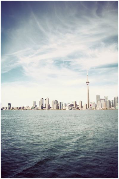 "LR: ""This was taken the first week that I moved to Toronto.  My sister brought me to Toronto Island and I was so excited to take such a photo on the boat!  It was a really nice day."""