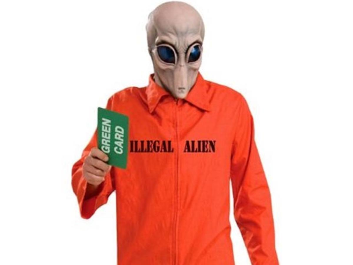 """lllegal Alien"" Halloween Costume"