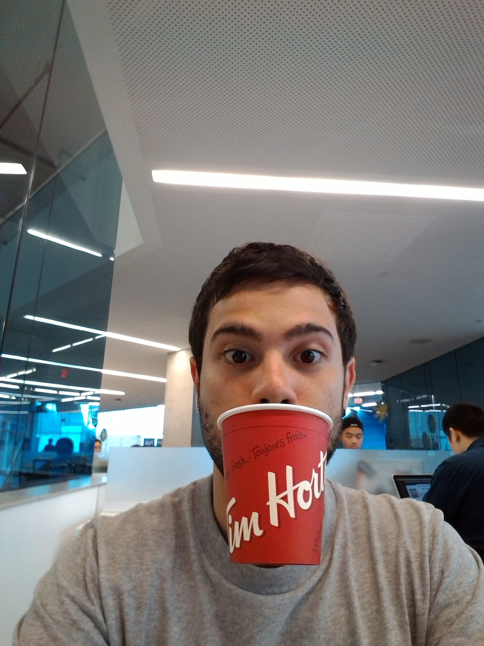Drinking Tim Hortons