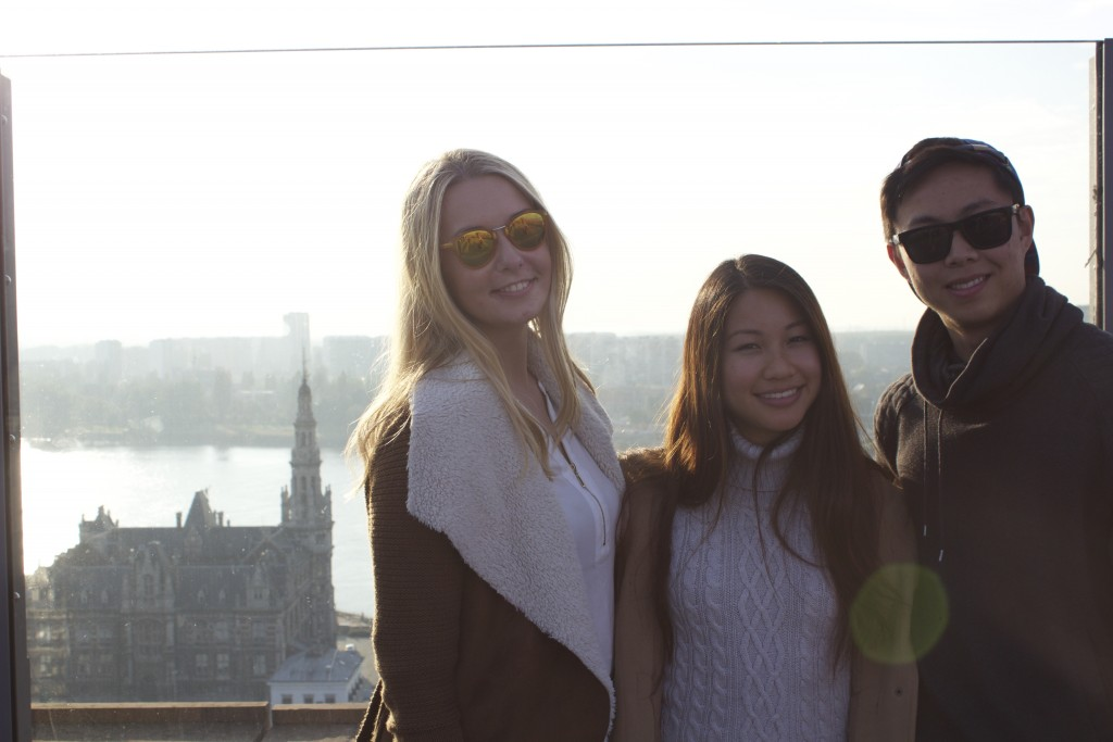 Alex, Rita, and Harison on top of the MAS museum