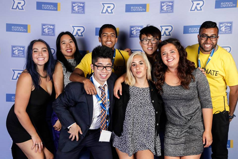 The O-Team student leaders at the Orientation Week Gala, Illuminate 2015
