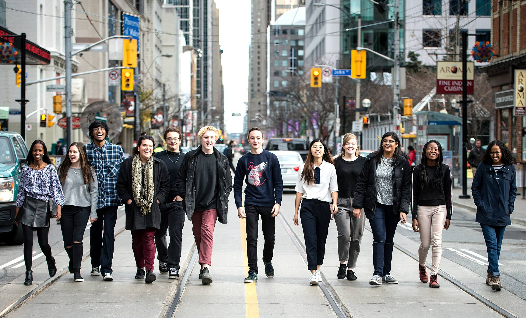 The 2015-2016 TIFF Next Wave Committee, with me at the very far left.