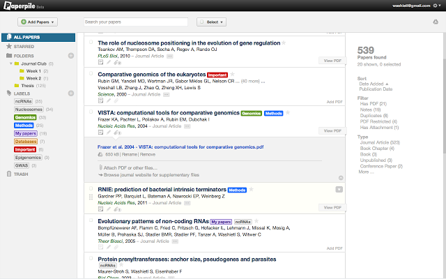 Screenshot of Paperpile Extension