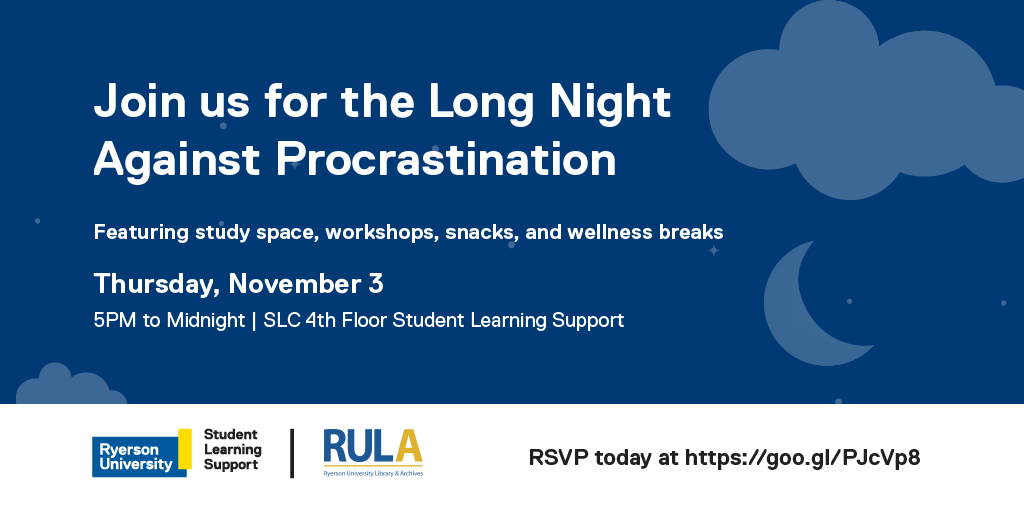 Join Student Learning Support for the Long Night Against Procrastination!