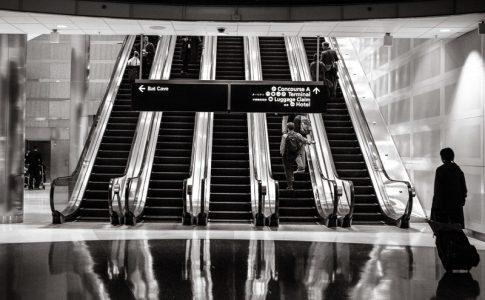 An airport terminal