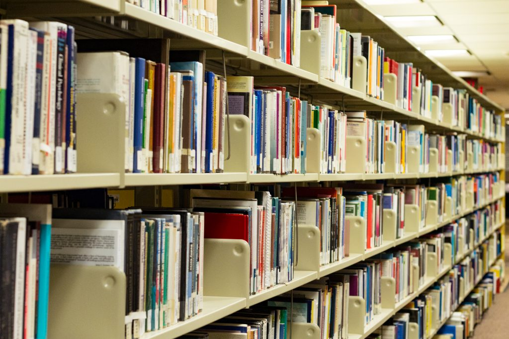A photo of the library stacks