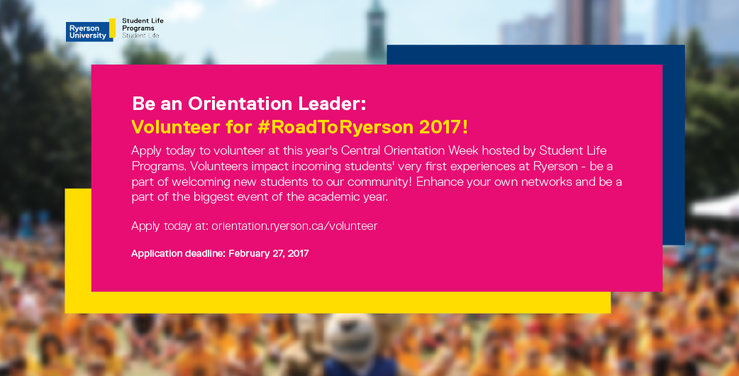 Apply to be an Orientation Leader today