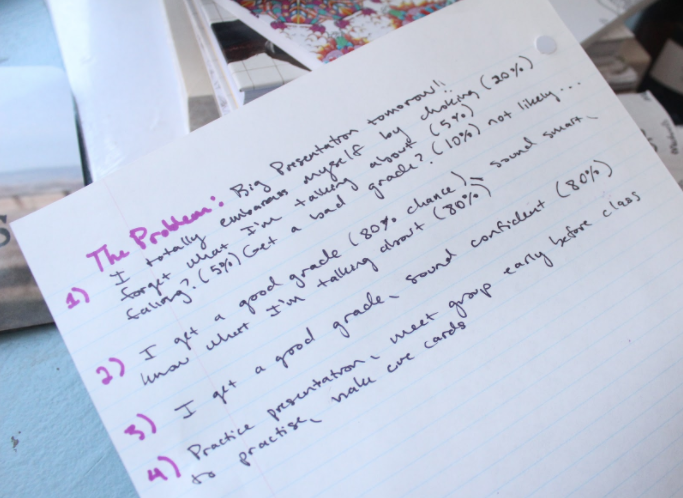 Writing from Robyn's notebook