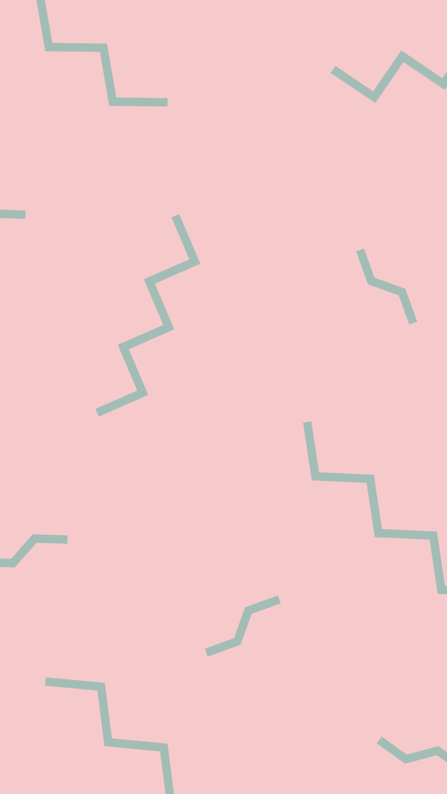 A pink background with green squiggles