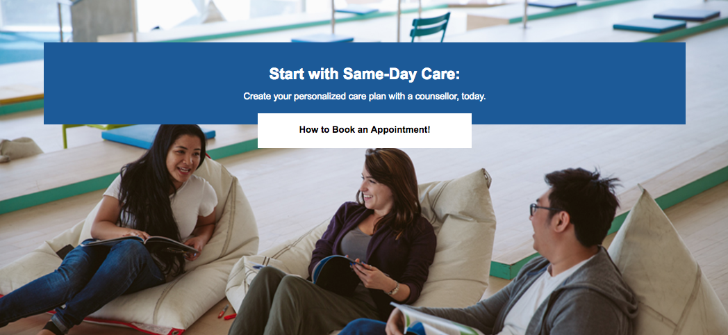 Start with Same-Day Care: Create your personalized care plan with a counsellor, today.