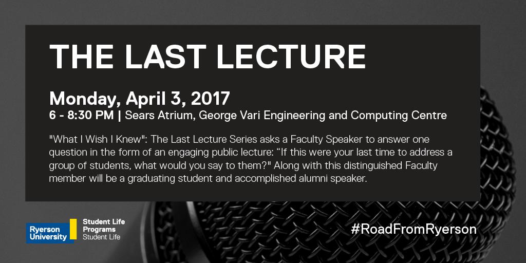 Last Lecture promo poster