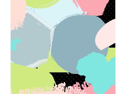 Pastel paint splotches