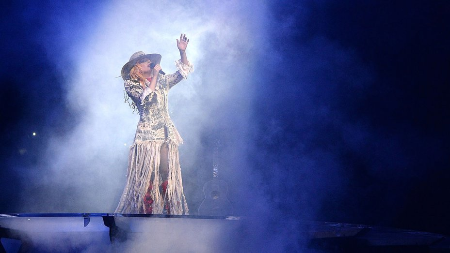 lady gaga performs onstage at Air Canada Center