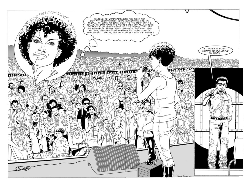 comic strip from (h)afrocentric by jewels smith
