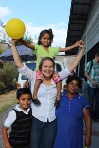 Hannah with children