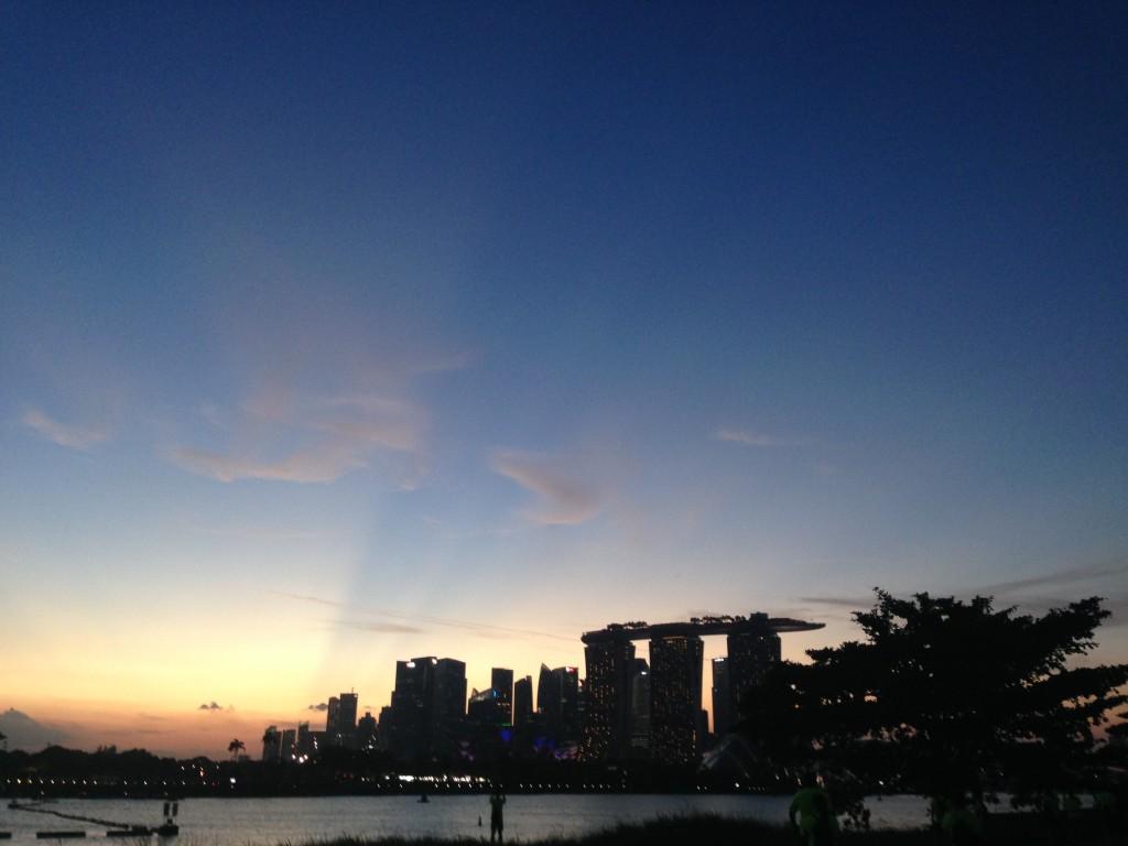 Photo of skyline in SIngapore
