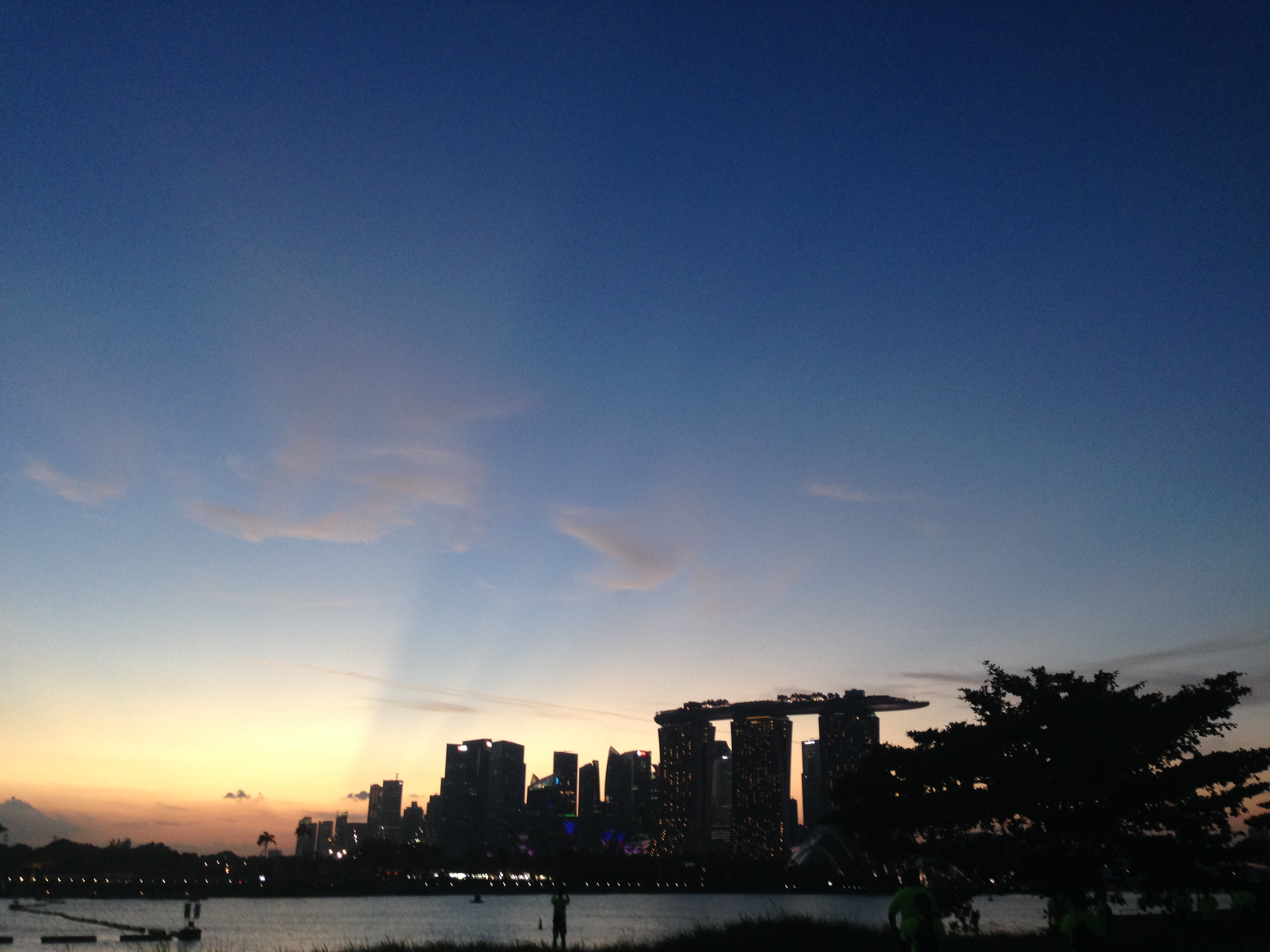 Photo of skyline in SIngapore
