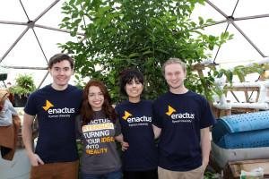 Group shot of Enactus Growing North team