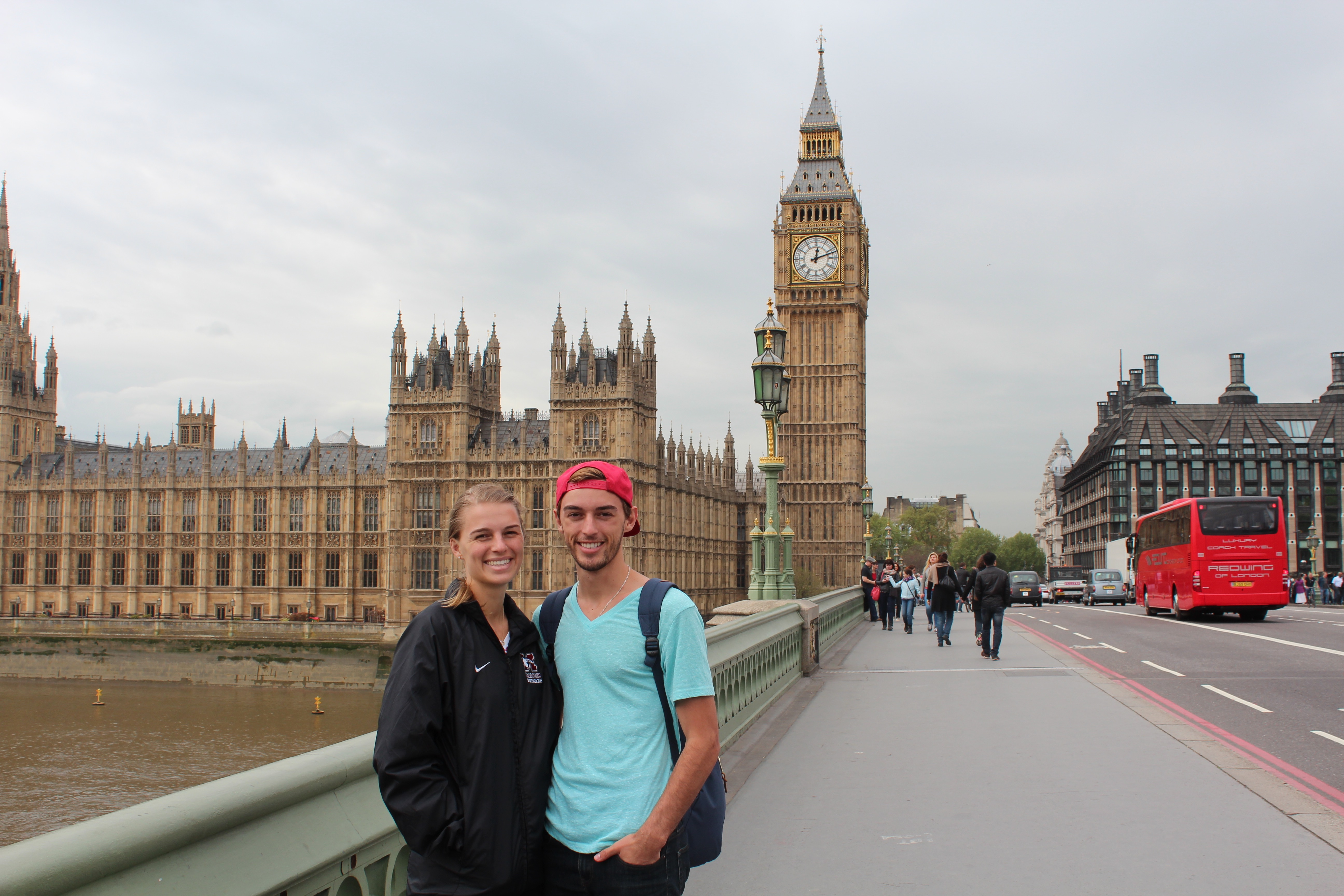 Justin and his sister in London