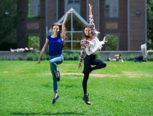 Reznik Twins on campus