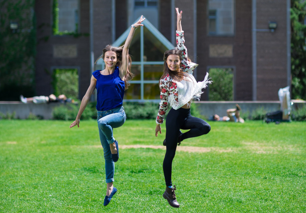 The Reznik Twins on campus