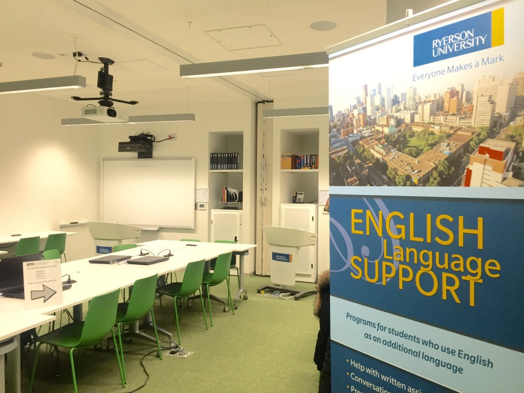 A photo of the English Language Support room in SLS