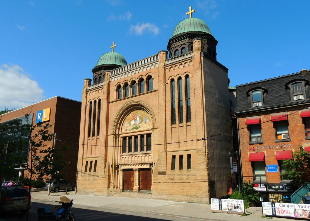 A photo of St George's Greek Orthodox Church, established in 1909