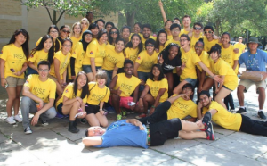 A large group photo from Orientation week 2014