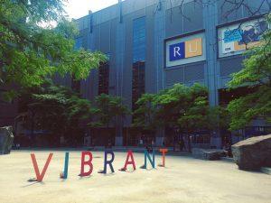 The VIBRANT signs on Lake Devo