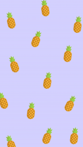 a purple background with pineapple icons throughout