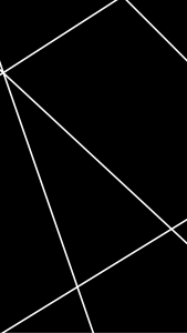 A black background with white intersecting lines