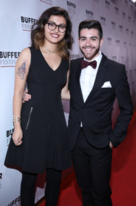 Kelly and Mikael on the red carpet for Buffer Festival
