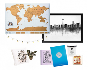 collage of different things to buy for your place