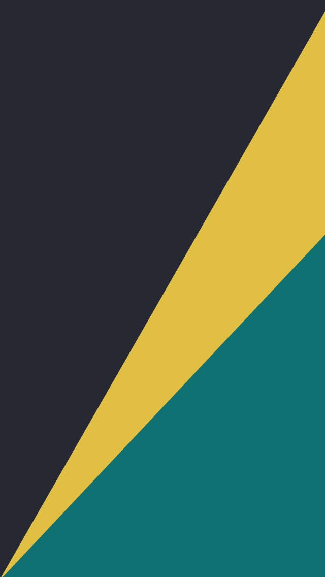 A black, yellow, and blue stripe