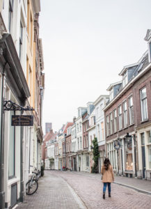 Janine in the streets of the Netherlands
