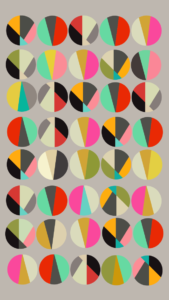 Colourful circles in a grid