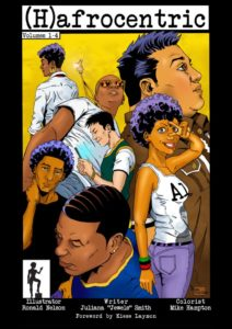 book cover of comic (h)afrocentric